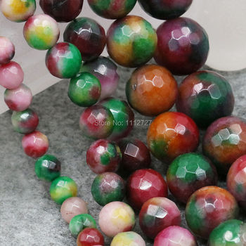 6 8 10 12mm Accessory Ornaments Multicolor Faceted Round DIY Beads Ball Semi Finished Stones Balls Gifts Jewelry Making Design