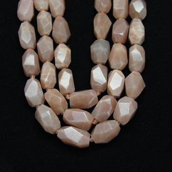 Pembe Mehtap Taşlar Gevşek Boncuk Kolye, Faceted Nuggets Moonstones Cut Spacer Boncuk Slab Charms Kolye Bulgular