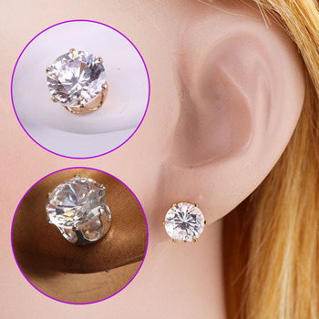 Fashion Women Bling Round Crystal Earring Ear Studs Piercing Jewelry Lady Girl Gift 88 KQS